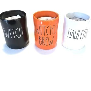 Rae Dunn Halloween Candles Set Of 3 Witch Haunted